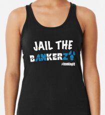 JAIL THE BANKERZ pig white Racerback Tank Top