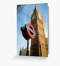 Signs of London: UK Greeting Card