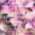 I Miss Them Too by Nathalie Himmelrich