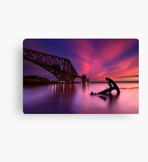 Forth Rail Bridge Sunset Canvas Print