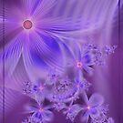 Soft Lavender Flowers Fractal by KirstenStar