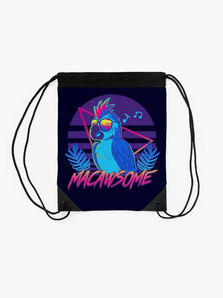 Alternate view of Macawsome Drawstring Bag