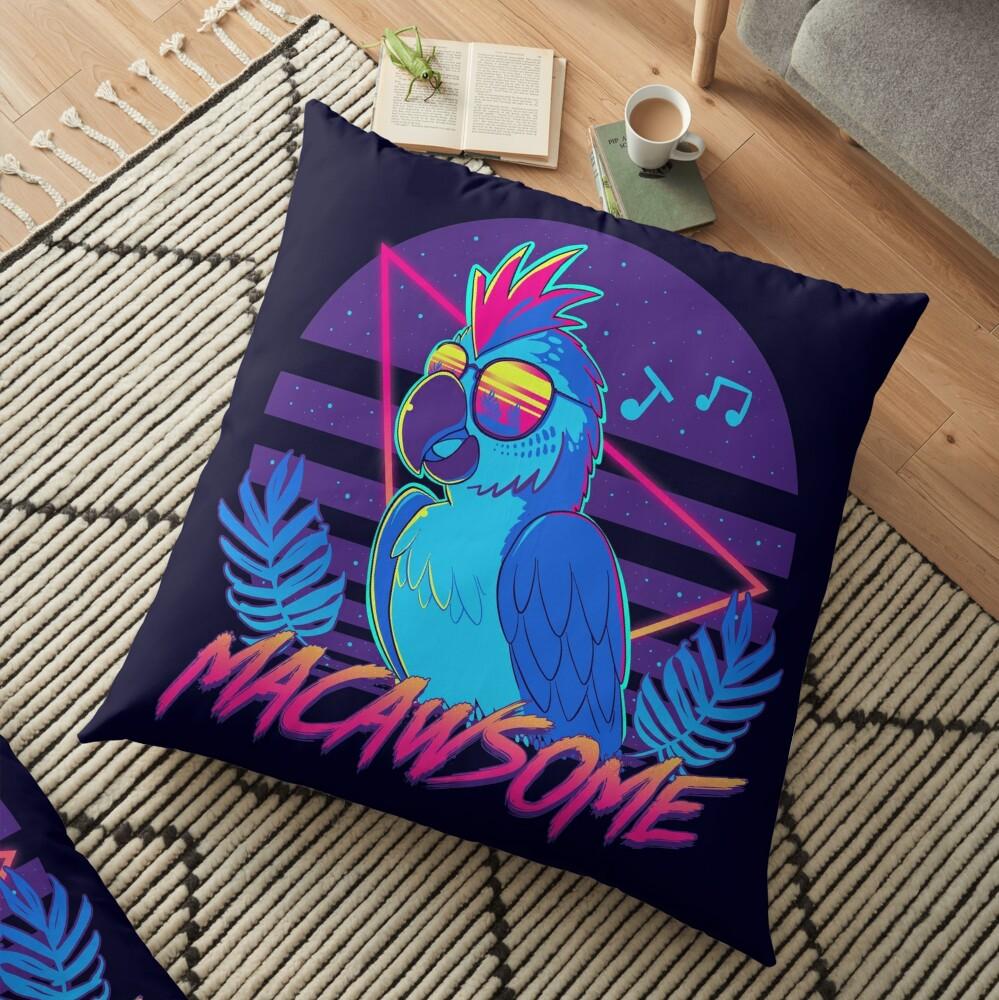Macawsome Floor Pillow