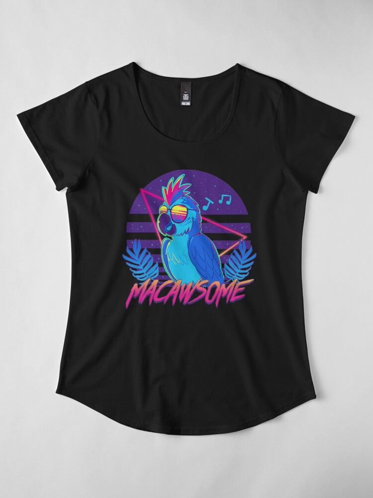 Alternate view of Macawsome Premium Scoop T-Shirt