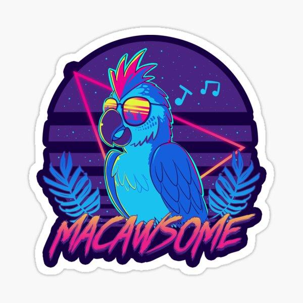 Macawsome Sticker