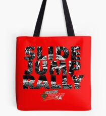 Slide Jump Rally - Red Tote Bag