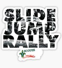 Slide Jump Rally - Red Sticker