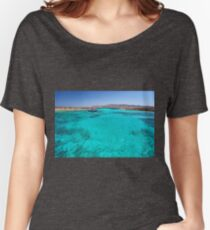 Blue lagoon in Antiparos islands, Greece Women's Relaxed Fit T-Shirt