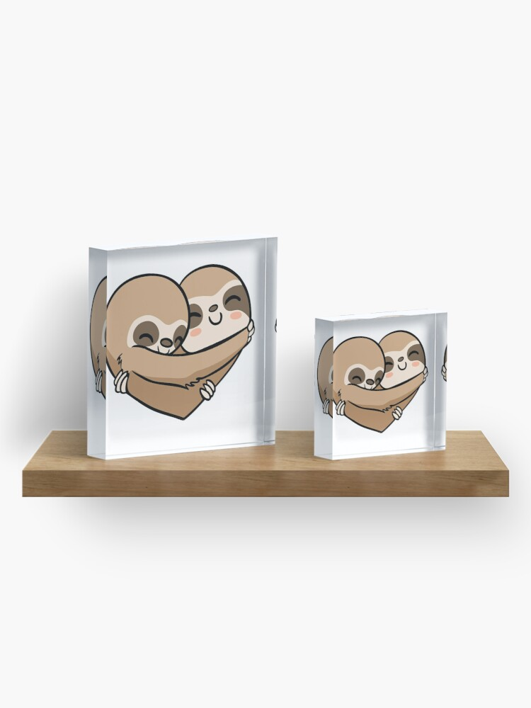 Alternate view of Sloth  Heart Acrylic Block