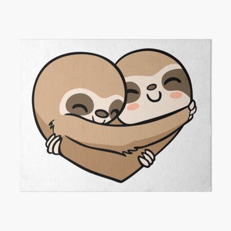 Sloth  Heart Art Board Print