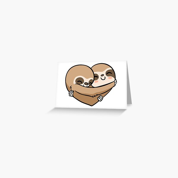 Sloth  Heart Greeting Card