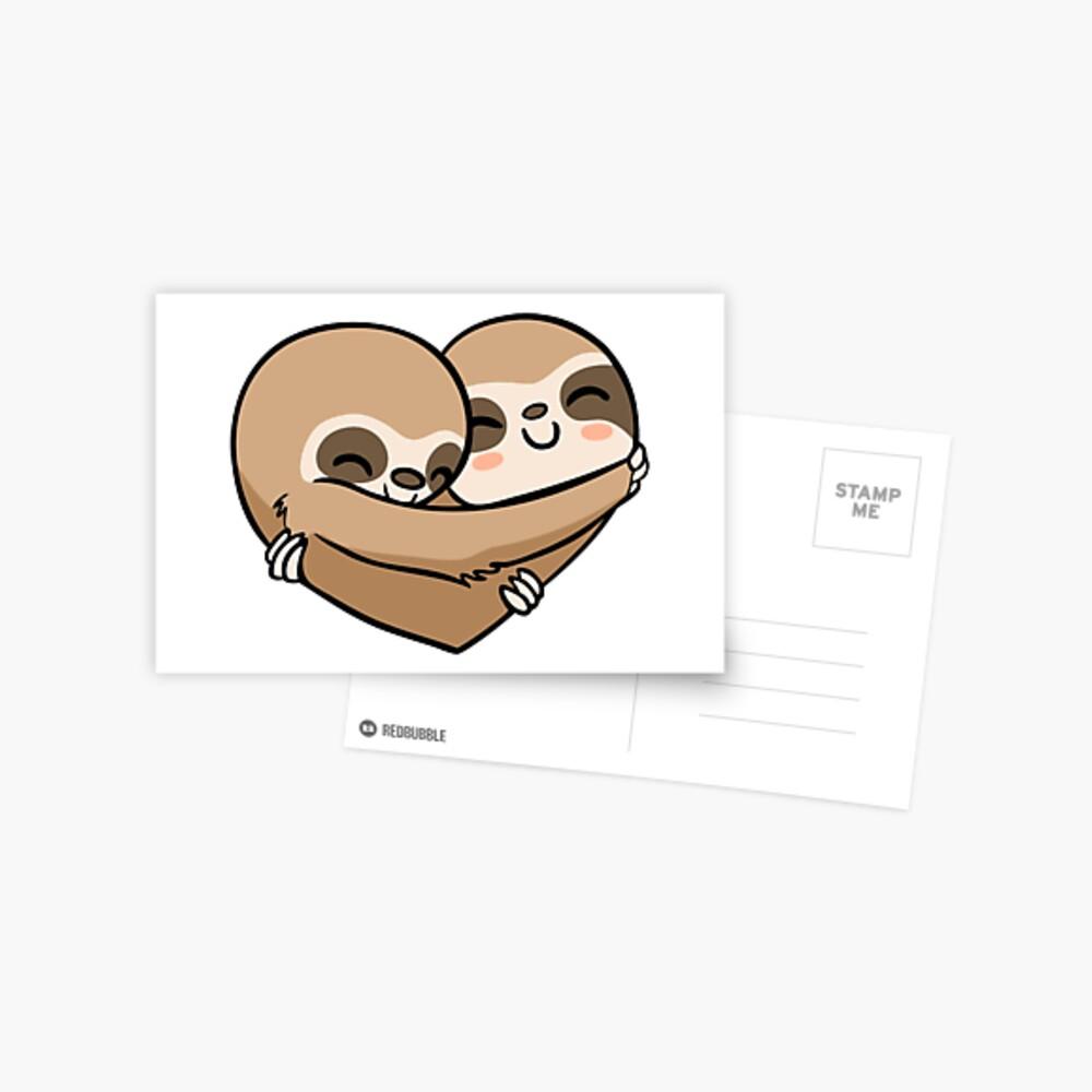 Sloth  Heart Postkarte