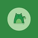 Green Cat by Louise Parton