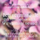 Ich Vermisse Sie Auch by Nathalie Himmelrich