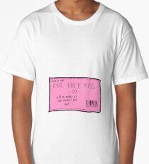 Gutschein für einen kostenlosen Kuss Longshirt