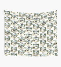 Slide Jump Rally - Colour/White Wall Tapestry