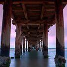 Dusk Under Seaford Pier by Jason Green