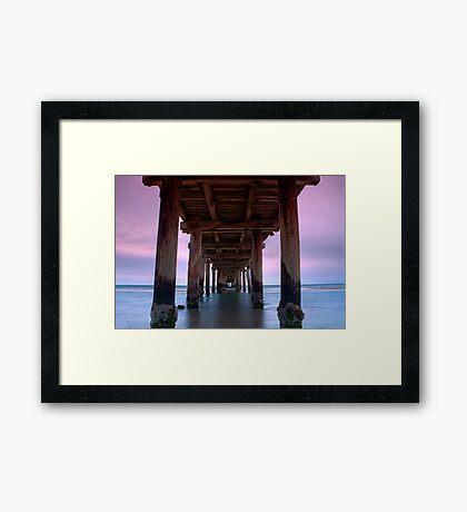 Dusk Under Seaford Pier Framed Print