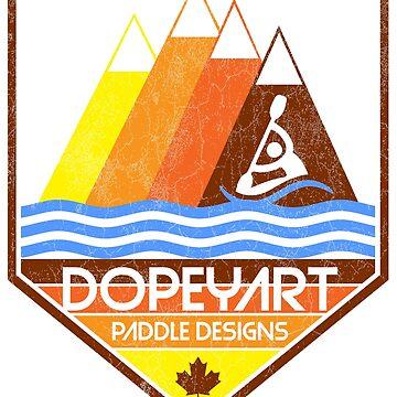 Dopeyart Paddle Designs Mountains | Paddle Designs | DopeyArt by DopeyArt