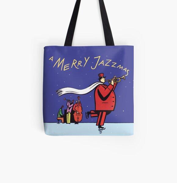 A Merry Jazzmas All Over Print Tote Bag