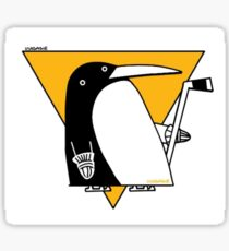Cubist Penguin Sticker