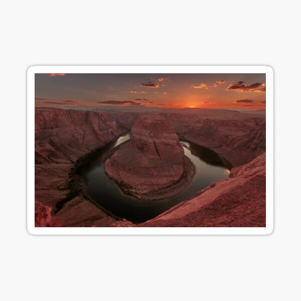 Sunset at Horseshoe Bend Sticker