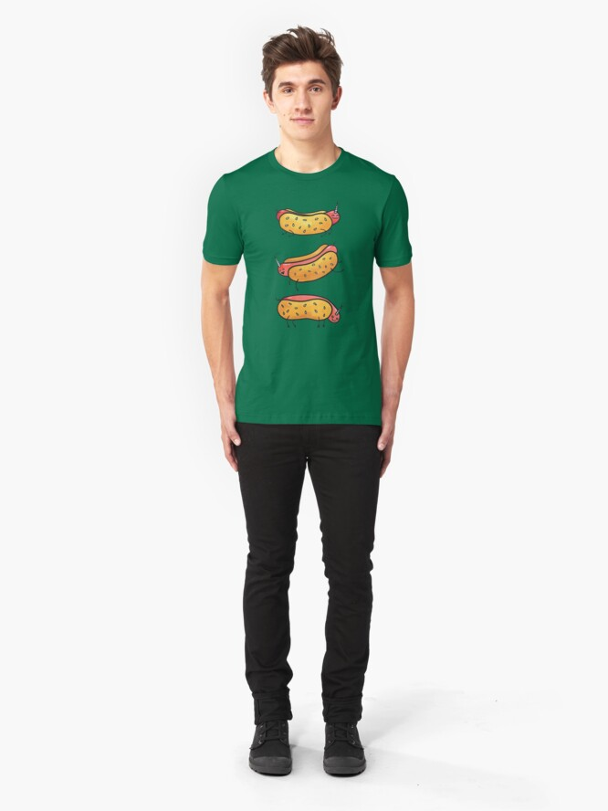 Alternate view of 'Corn Dogs Slim Fit T-Shirt