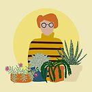My little gardener with succulents by illuminostudio