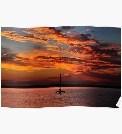 Sunset at Cowes II Poster