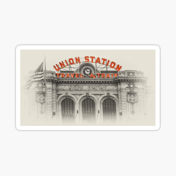 Denver Union Station Sticker