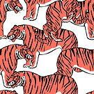 Asian wild animals amur tiger. by TrishaMcmillan