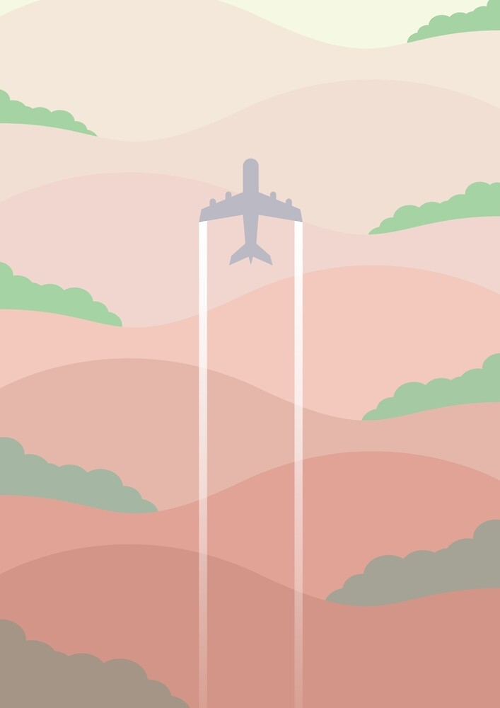 Plane on the hills by baggsie138