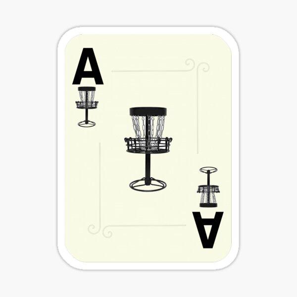Disc Golf Ace Basket Poker Card Sticker