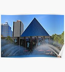 Edmonton City Hall and fountains  Poster