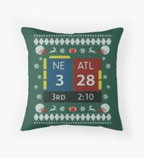 28-3 Historic Comeback New England Patriots Christmas Ugly Sweaters, Tom Brady - TB12 Shirts, Mugs, Phone Cases, Pillows & Greeting cards! Throw Pillow