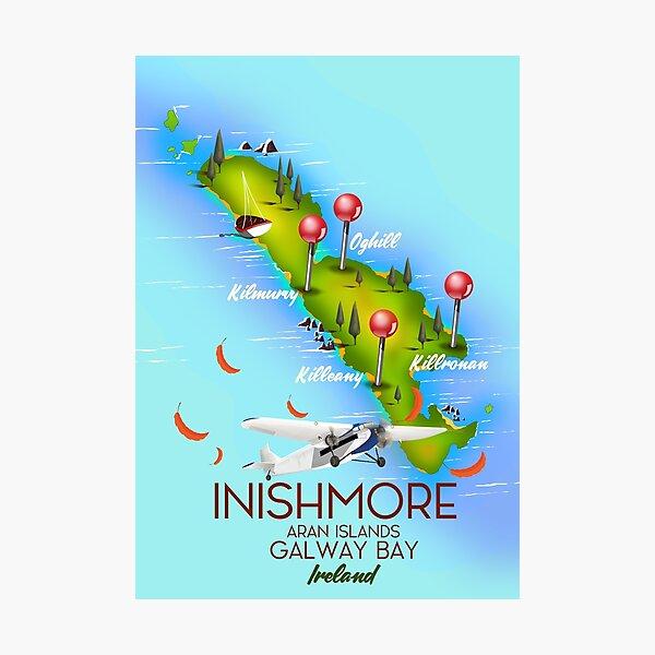 inishmore Aran Islands Galway Bay Ireland travel poster Photographic Print