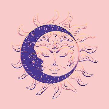 Tattoo sleeping sun and moon by AnnArtshock