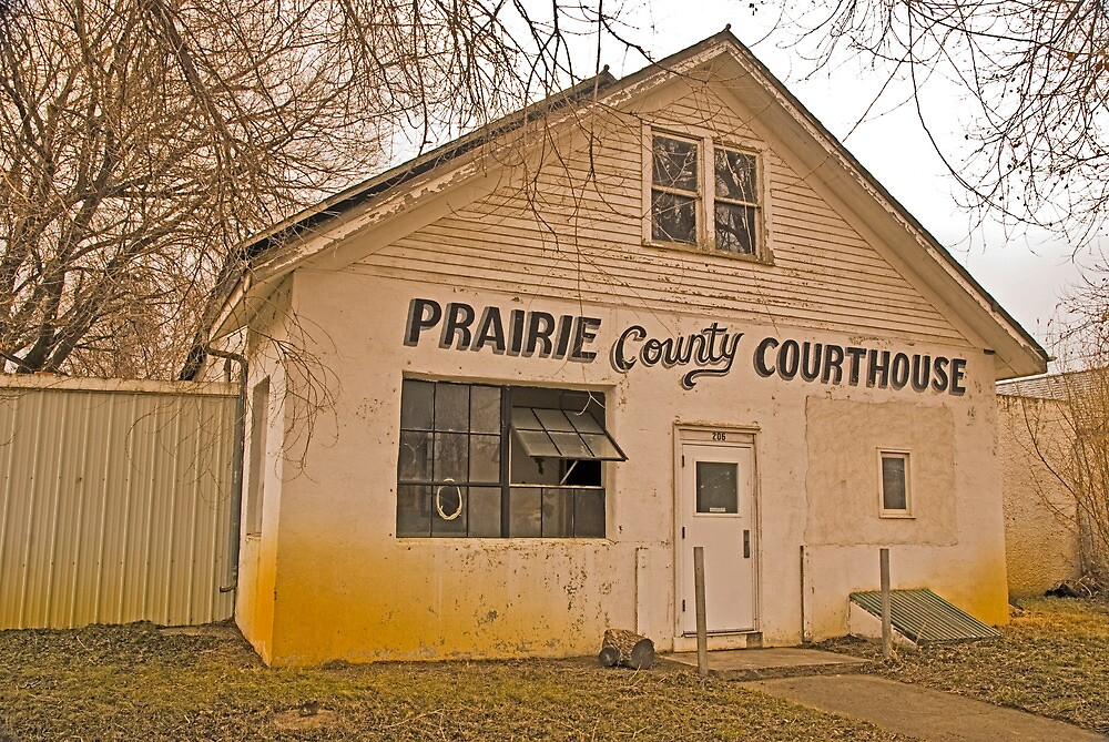 Prairie County (Montana) Court House by Bryan D. Spellman