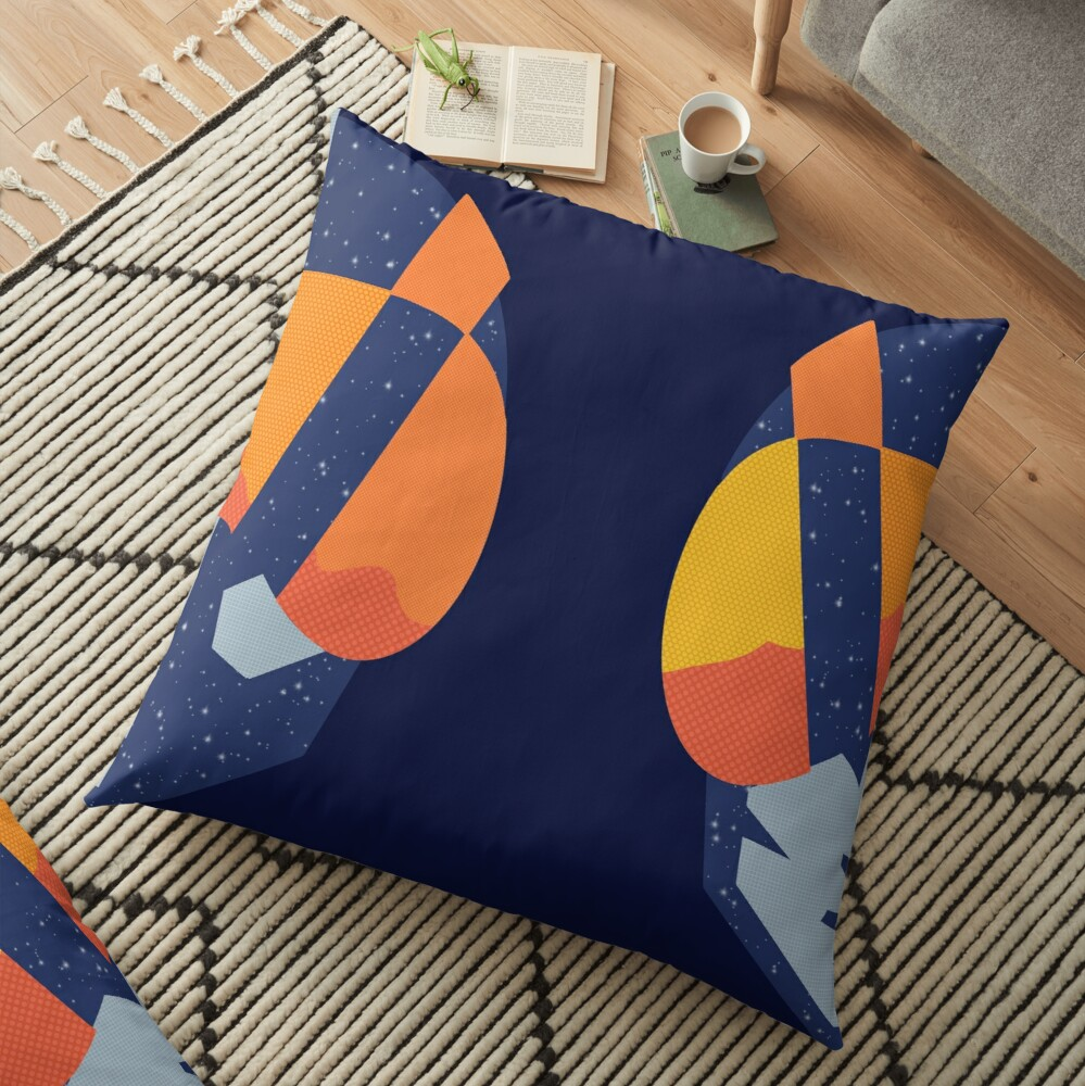 Art Las Vegas aviators logo Floor Pillow