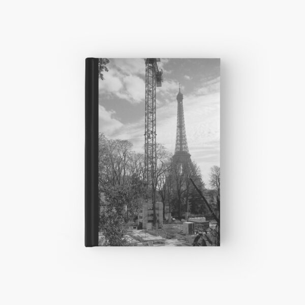 Eiffel from right bank Hardcover Journal