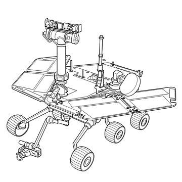 Rip Opportunity Mars Rover T Shirt By Bergulator