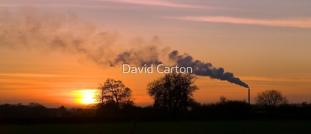 Westbury Chimney stack at Sunset by David Carton