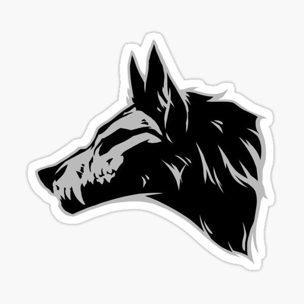 Cráneo de lobo Pegatina