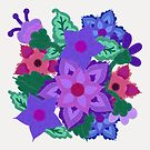 Felt Floral Motif by CheriesArt