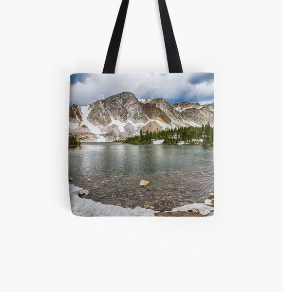 Medicine Bow Lake View All Over Print Tote Bag