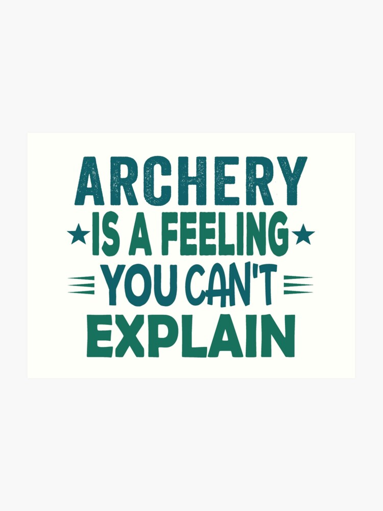Archery Feeling T Shirt Cool Funny Nerdy Graphic Image Archery