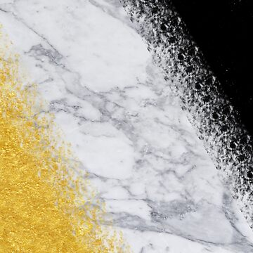 Marble, Black and Gold | gold foil, gold, white marble by koovox