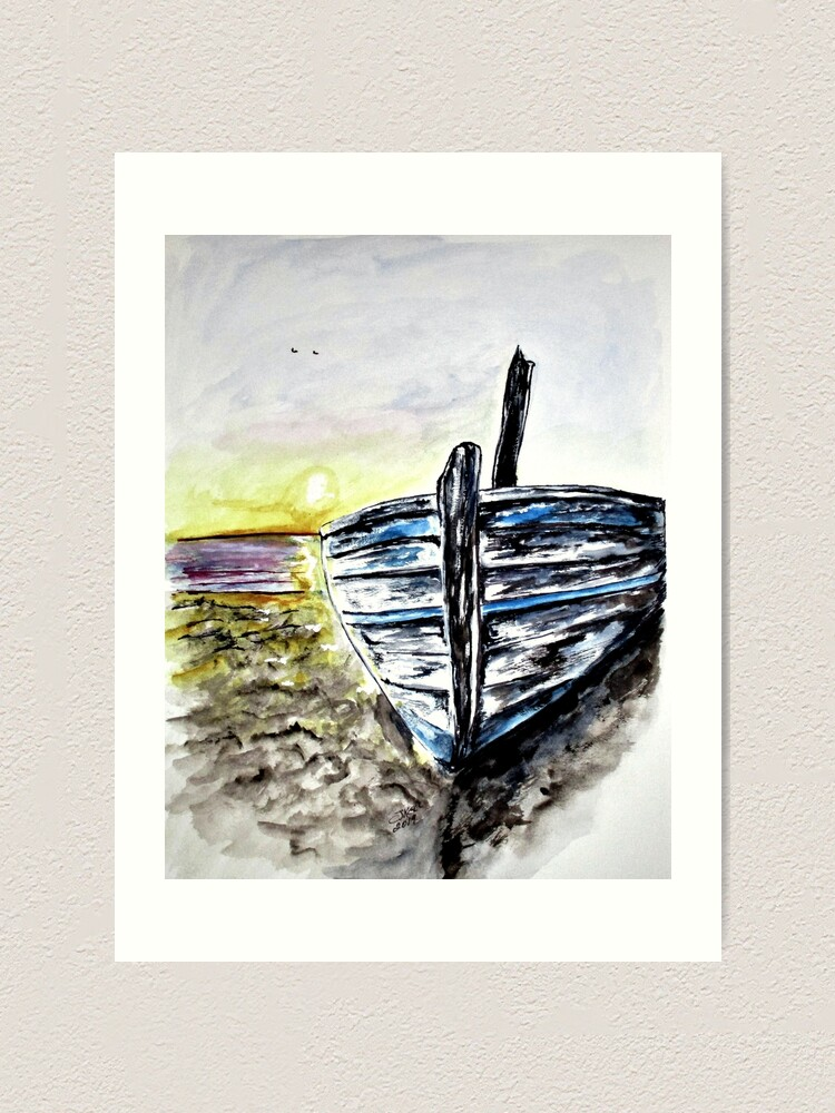 Alternate view of Abandoned Fishing Boat No. 2 Art Print