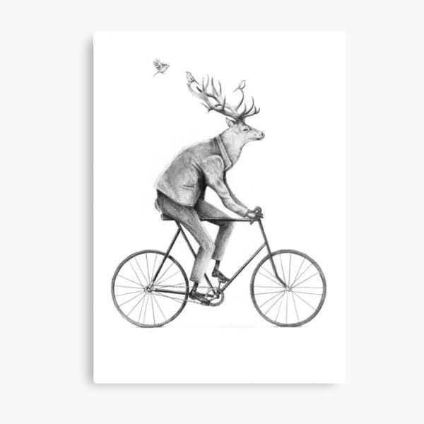 Even a Gentleman rides Metal Print