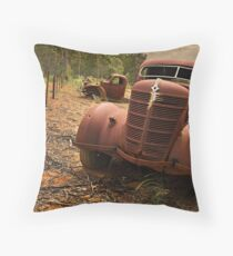Old Workhorses Throw Pillow